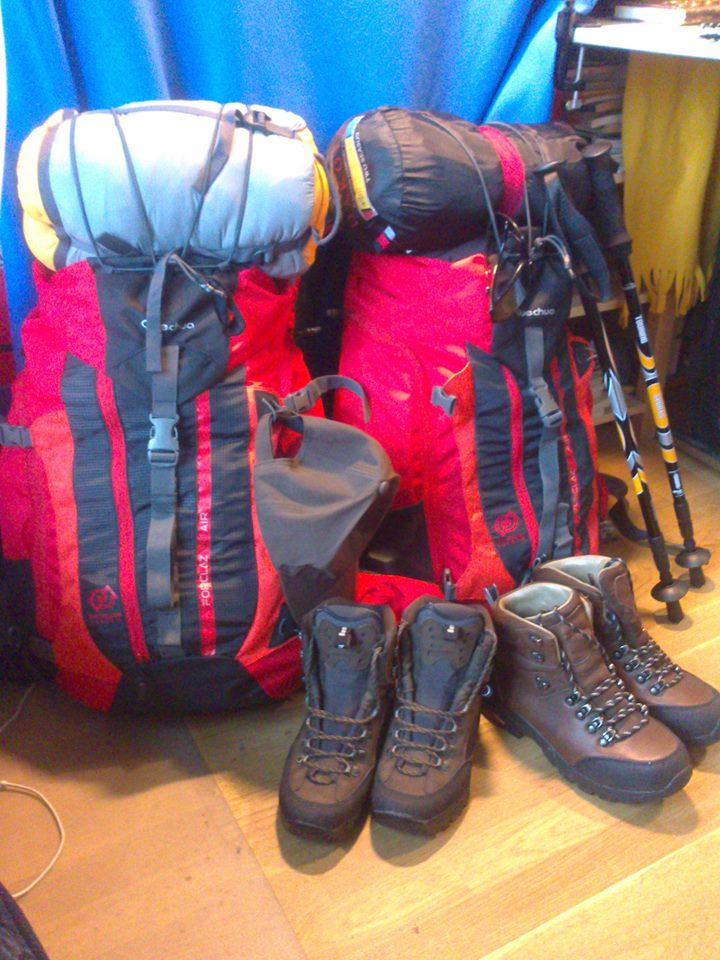 Bags Packed for the Camino de Santiago